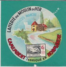 I271 FROMAGE CAMEMBERT MOULIN DE VERT CERENCES MANCHE    MOULIN A EAU