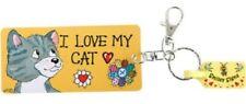 I Love My Cats Keyring Birthday Christmas Gift Keychain Key Ring PVC