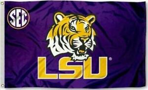 FLAG 3X5 LSU Tigers Football New Fast Shipping Louisiana State University TIGER