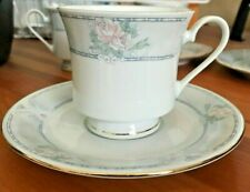 Lot-TIENSHAN FINE CHINA J.X 1993 DELICATE ROSE PATTERN 5 FOOTED CUPS-3 SAUCERS