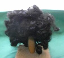 """doll wig black 10"""" to 11"""" curly haircut /Kemper"""