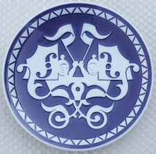 1977 Royal Copenhagen Collector Plate Plaque Mothers Day Mors Dag Twins