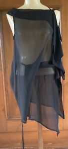 Ann Demeulemeester..A Silk Top/Blouse..Hidden Ties..!