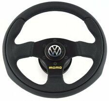 Genuine Momo Team 280mm leather steering wheel, hub kit and horn. Volkswagen VW