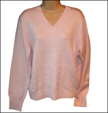 BNWT WOMENS OAKLEY LONG SLEEVED V NECK SWEATER JUMPER XSMALL PINK NEW