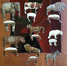 8 of 12 Clark's Mile-End Spool Cotton animal paper dolls 7 with extra legs