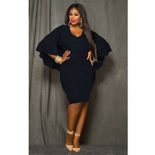 Plus Size Womens Backless Evening Party Summer Ladies Cocktail Long Pencil Dress UK 14-16 Red