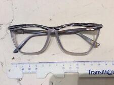 Versace 487 930 57/14 occhiale vista donna vintage nuovo celluloide grigio