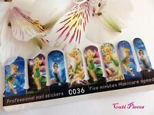 "Nail Art Self Adhesive Full Nail Polish Wraps Sticker ""Fairies Tinkerbell"" Decal"