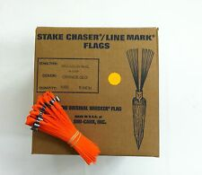 """Smi-Carr 6"""" Stake Chaser® Whiskers/Line Mark® Flags, Glo Orange - 1000 Count"""