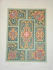 GRANDE Litho couleur DÉCORATION ARCHITECTURE PEINTURE CHRISTY 1860 NAPOLÉON III