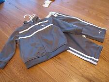 Boy's Baby infant Puma active jacket pants set stripe grey 12 M 12 months $40