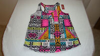 Women's Arizona Jeans Racer Back Multi-Color Print Tank Top Size Large NEW With