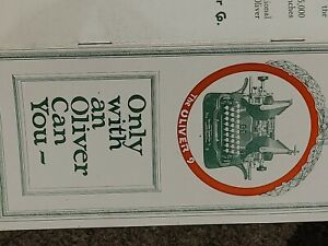 Original 1915-1917 OLIVER TYPEWRITER PAMPHLET Antique Rare Brochure Catalog #4
