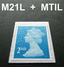 NEW JULY 2021 2nd Class M21L + MTIL MACHIN SINGLE STAMP from Booklets