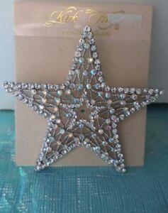 KIRKS FOLLY Crystal Star Pin/Brooch Silvertone NEW W/TAG