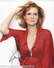 CYNTHIA NIXON SIGNED AUTHENTIC 'SEX AND THE CITY' 8X10 PHOTO w/COA SEXY ACTRESS
