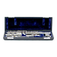 BRAND NEW 2019 Nickel Plated C FOOT Flute w Straight & Curved Headjoints