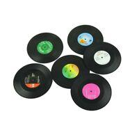 6 Stueck/Set Spinning Retro Vinyl Schallplatte Bierdeckel Matte