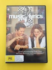 Music And Lyrics Hugh Grant Drew Barrymore R4 Aussie Seller Free Post