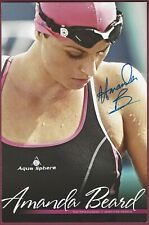 Amanda Beard, Olympic Swimmer, Signed Photo, COA, UACC RD 036