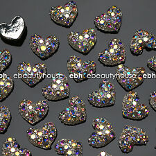 10 Pcs Alloy Jewelry 3D DIY AB Rhinestone Nail Art Glitters Slices #EJ-114