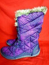 Columbia Women Size 10 Faux Fur Winter Boots Purple Black  Omni Grip Boots