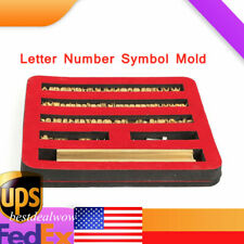 New listing Copper Mold Bronzing Die Flexible 82Pcs Character Engraving Molds Printing Mould