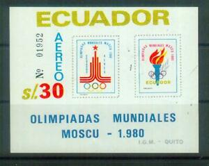 Super  Briefmarken-Block aus Ecuador, von 1980, postfrisch