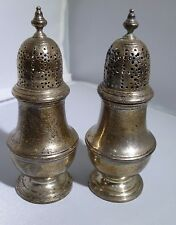 TIFFANY & CO STERLING SILVER SUGAR SALT PEPPER RARE PAIR OF SHAKERS