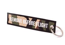REMOVE BEFORE FLIGHT ® - Schlüsselanhänger Camouflage (Tarn) - ORIGINAL EU MARKE