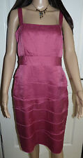 Minuet dress dusty pink layered size 14 summer / occasion strappy