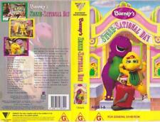 BARNEY'S SENSE-SATIONAL DAY  VHS VIDEO PAL~ A RARE FIND~