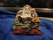 "June McKenna 1995 ""Travel Plans"" figurine Santa and elves Vintage"