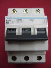 Réf NF320 OU NFN320 DISJONCTEUR HAGER 3P 20A 6/10kA COURBE C 230;400V NEUF