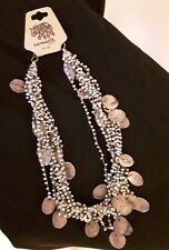 BNWT fair trade multi strand necklace made from beads & shells
