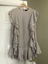 Sister Jane Size M Stunning Quality Pale Grey Ruffle Dress. Really Pretty ❤️
