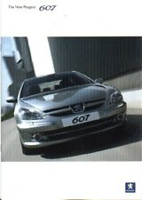 PEUGEOT 607 BROCHURE 10/2005 + SPECIFICATION BOOKLET
