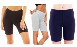 3 X Womens Cycling Shorts Dancing Gym Biker Hot Pants Casual Leggings Multipack