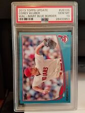 2013 Topps Update Corey Kluber Blue Walmart Rookie Card #US105 PSA 10 POP 4!