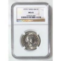 1979 Susan B Anthony Dollar Wide Rim NGC MS65 *Rev Tye's* #400853