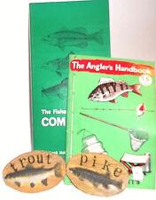 FISHERMAN/ANGLERS LOT OF 4 -Spratt,Angler's Handb'k,Holan'S companion,magnets