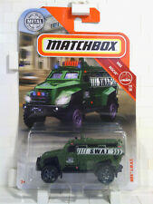 2018 Matchbox S.W.A.T. Police Truck Army Green Armored Car - X152