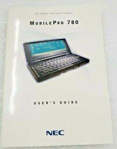 NEC MobilePro Professional PC Companion MobilePro 780 User's Guide Book