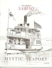 VINTAGE STEAMBOAT SABINO BOOKLET at MYSTIC SEAPORT, Mystic, CT 70's