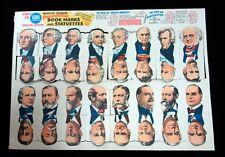 Sears Advertising Premium Die-cut Presidential Bookmarks c1945