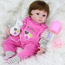 "Reborn Baby Dolls Real Life Vinyl Silicone Baby Girl Doll Kids Birthday 16""/42cm"