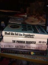 Jeffrey Archer Lot of 4 Hardcover Books  B3