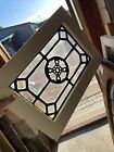 SG3785 antique Leaded Glass Window 16 x 22 25