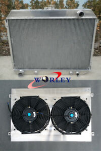 Radiator+SHROUD+FANS FOR Dodge Charger 68-74/Challenger 70-74/Plymouth GTX 68-72